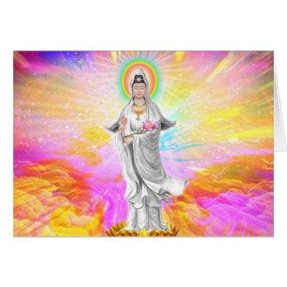Kwan Yin de Godin van Medeleven met Roze Wenskaart