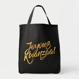 Kwanzaa joyeux sac en toile épicerie