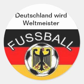 L Allemagne devient un champion du monde Autocollants Ronds