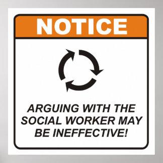 L argumentation avec l assistant social peut être affiches
