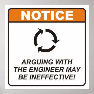 L argumentation avec l ingénieur peut être ineffic poster