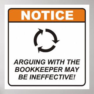 L argumentation avec le comptable peut être ineffi poster