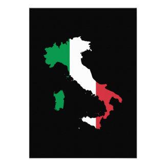 L Italie dans des couleurs de drapeau Cartons D'invitation