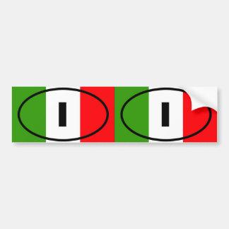 L Italie - I - ovale européen Adhésifs Pour Voiture