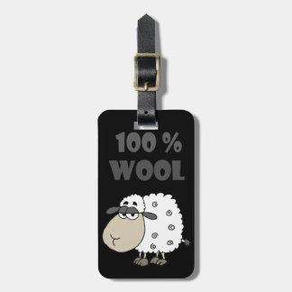 La bande dessinée drôle de moutons est de 100 pour étiquette à bagage