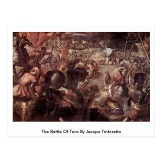La bataille du taro par Jacopo Tintoretto Carte Postale
