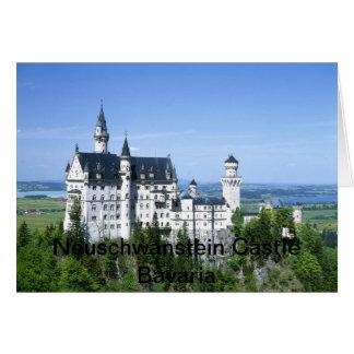 La Bavière Allemagne de château de Neuschwanstein Carte