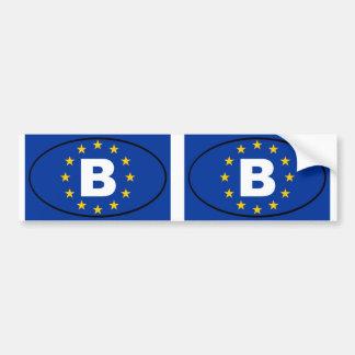 La Belgique - B - ovale d'Union européenne Autocollant De Voiture