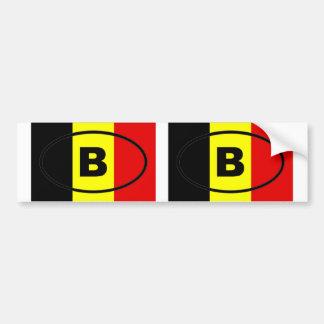 La Belgique - B - ovale européen Autocollant De Voiture