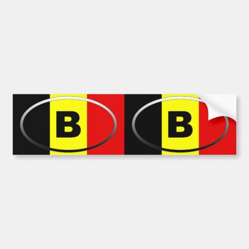 La Belgique - B - ovale européen Autocollant Pour Voiture