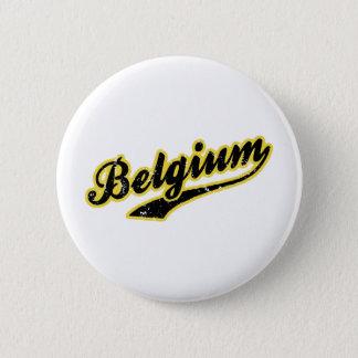 La Belgique Badge Rond 5 Cm