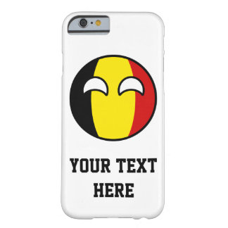 La Belgique Geeky tendante drôle Countryball Coque iPhone 6 Barely There
