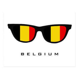 La Belgique ombrage le texte et la carte postale