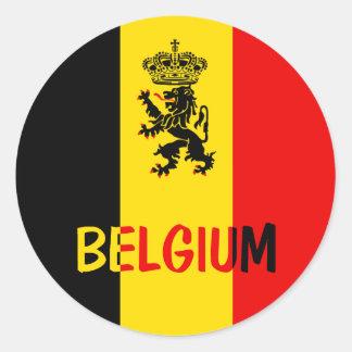 La Belgique Sticker Rond