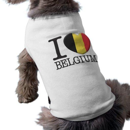 La Belgique T-shirts Pour Chien