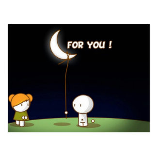 La belle carte postale de Valentine pour vous
