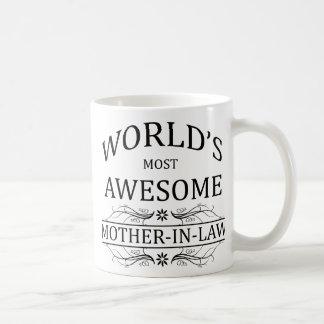 La belle-mère la plus impressionnante du monde mug blanc