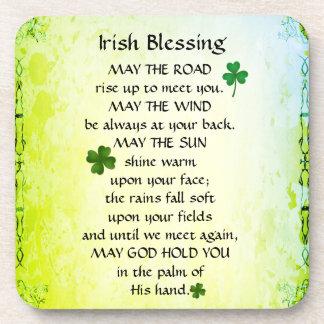 La bénédiction irlandaise, mai la route montent dessous-de-verre