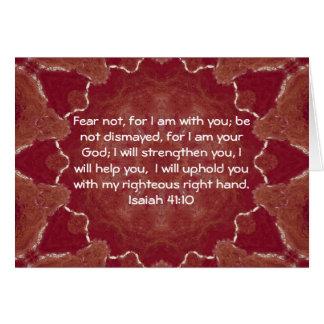 La bible exprime le 41:10 en vers inspiré d'Isaïe Carte