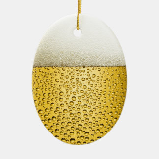 La bière bouillonne la boisson ambre de bière ornement ovale en céramique