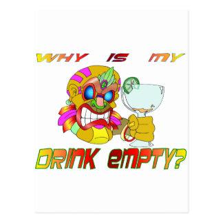 La boisson de Tiki est VIDE Carte Postale