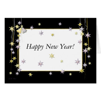 La bonne année tient le premier rôle le noir carte de vœux