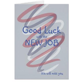 La bonne chance avec les nouveaux rubans du carte de vœux