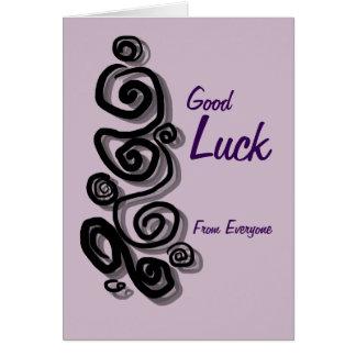 La bonne chance de chacun ajoutent vos remous de carte de vœux