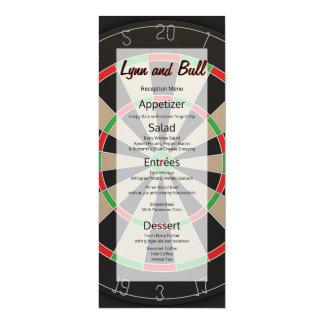 La boudine de cible darde le menu de mariage carton d'invitation  10,16 cm x 23,49 cm