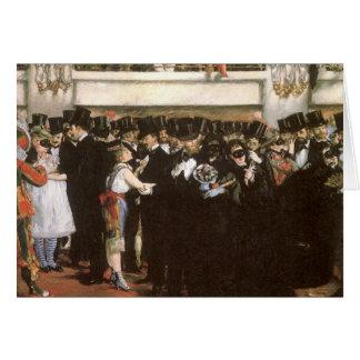 La boule masquée de Manet à l'opéra Carte