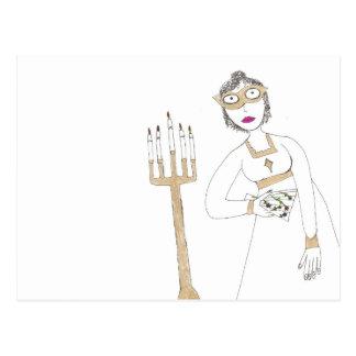 La boule masquée déplaisante de Jane Austen Carte Postale