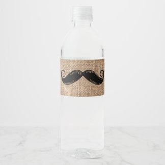 La bouteille d'eau de moustache marque | petit étiquette pour bouteilles d'eau