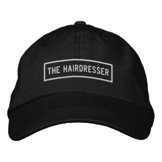 La broderie de titre de coiffeur casquette brodée