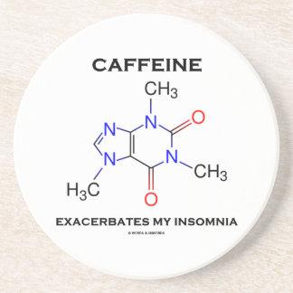 La caféine aggrave mon insomnie (la chimie) dessous de verre en grès