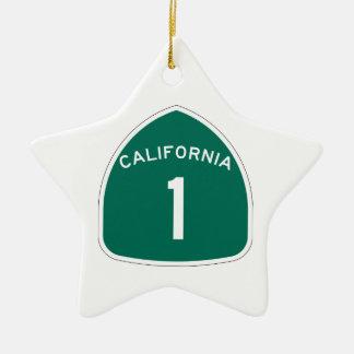 La Californie 1 Ornement Étoile En Céramique