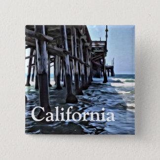 La Californie - bouton carré de 2 pouces Badge Carré 5 Cm