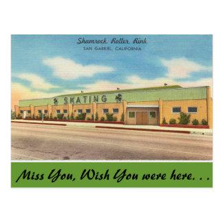 La Californie, piste de rouleau de shamrock Carte Postale