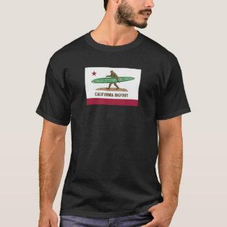 La Californie surfant Bigfoot Longboard T-shirt