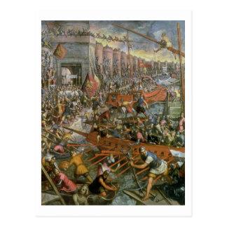 La capture de Constantinople en 1204 (huile sur le Carte Postale