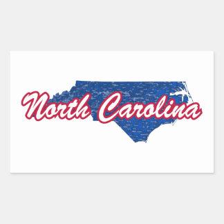 La Caroline du Nord Sticker Rectangulaire