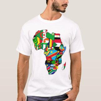 La carte africaine des drapeaux de l'Afrique dans T-shirt