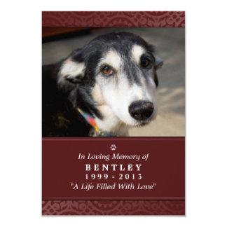 """La carte commémorative 3,5"""" de chien rouge de x 5"""