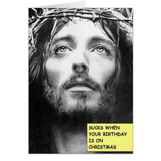 La carte d'anniversaire de Noël de Jésus