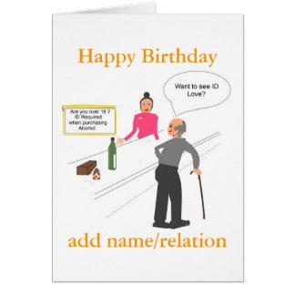 La carte d'anniversaire drôle de plaisanterie