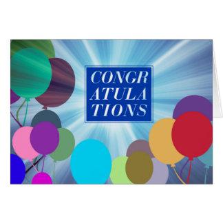 La carte de félicitations d'obtention du diplôme