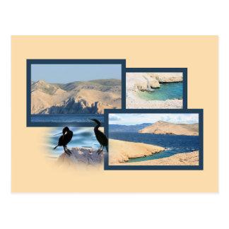 la carte de lettre pour Baska, island Krk, Croatie