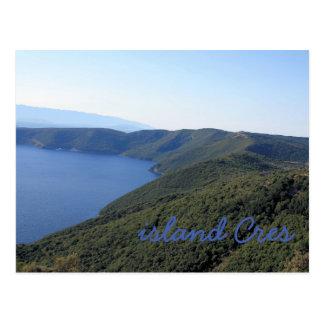 la carte de lettre pour Cres, la Croatie