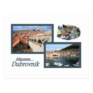 la carte de lettre pour Dubrovnik, la Croatie
