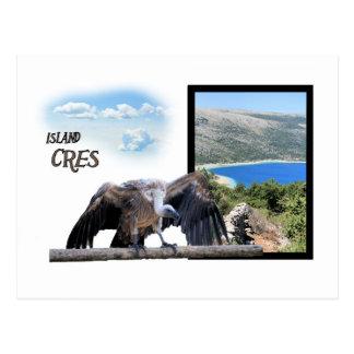 la carte de lettre pour island Cres, Croatie