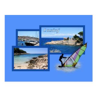 la carte de lettre pour island Losinj, Croatie